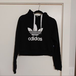Factory cropped adidas hoodie